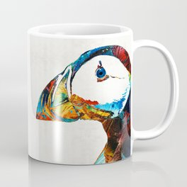 Colorful Puffin Art By Sharon Cummings Coffee Mug