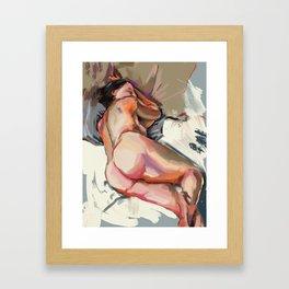 Woman Sleeping Framed Art Print