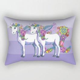 Unicorn Twins Rectangular Pillow