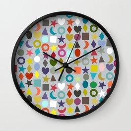 geo garland silver Wall Clock