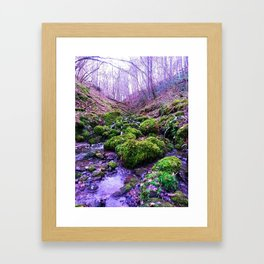 paths of purple Framed Art Print