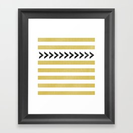 ARROW STRIPE {MUSTARD} Framed Art Print
