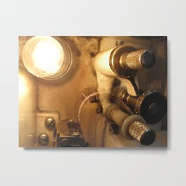 Inside a Film Projector Metal Print