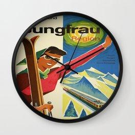 Vintage poster - Jungfrau, Switzerland Wall Clock