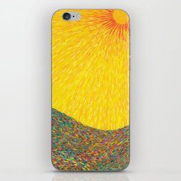 Here Comes the Sun - Van Gogh impressionist abstract iPhone Skin