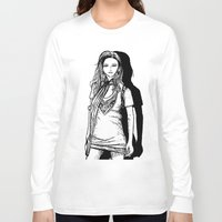 lady Long Sleeve T-shirts featuring Lady  by KeithKarloff