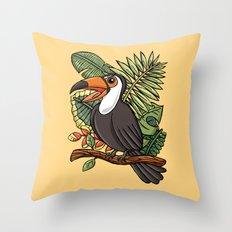 The Happy Toucan Bird Throw Pillow