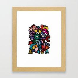 Cool Street Art Fun Multicolor Creatures Framed Art Print