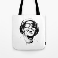 stevie nicks Tote Bags featuring Stevie by Danny PiG
