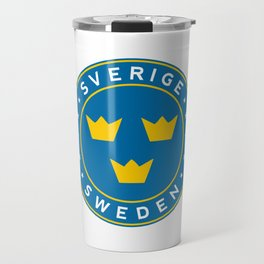 Sweden, Sverige, 3 crowns, circle Travel Mug