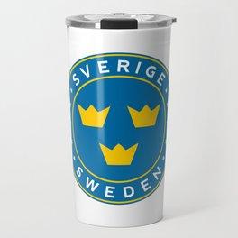 Sweden, Sverige, 3 crowns, circle Travel Mug