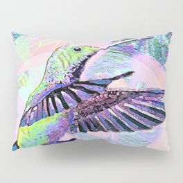 Jeweled Hummingbird in Flight Pillow Sham