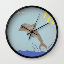 Leaping Dolphin Wall Clock