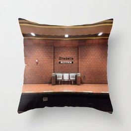 Berlin U-Bahn Memories - Zitadelle Throw Pillow