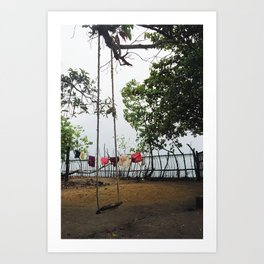 Backwaters Garden, Kerala, India Art Print