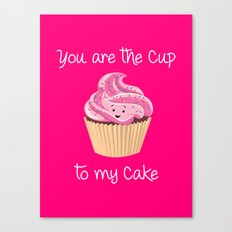My cupcake - Pink version Canvas Print