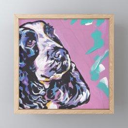 fun English Cocker Spaniel bright colorful Pop Art painting by Lea Framed Mini Art Print