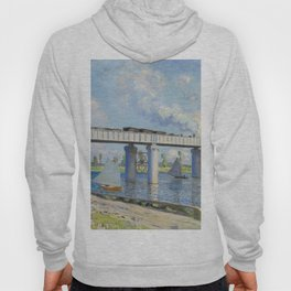 The Railroad Bridge at Argenteuil by Claude Monet Hoody