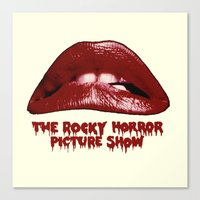 rocky horror picture show Canvas Prints featuring Rocky Horror Picture Show Lips Logo by TOM / TOM