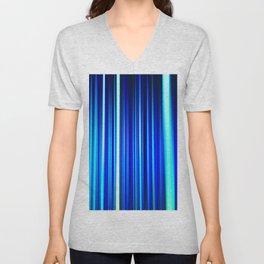 Frost Blues LED Sculpture Light Painting Unisex V-Neck