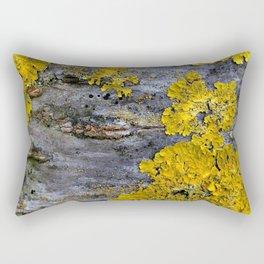 Tree Bark Pattern # 3 with yellow lichen Rectangular Pillow