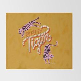 Go Get 'Em Tiger – Yellow Palette Throw Blanket