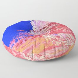 Into the Mist Pantone Color of the Year 2016 Abstract Floor Pillow