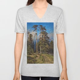 'The Word for World is Forest' by Ivan Shishkin Unisex V-Neck