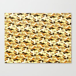 Yellow and White Butterfly Abstract Canvas Print
