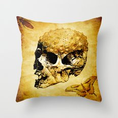 The last home of the mystic butterfly Throw Pillow