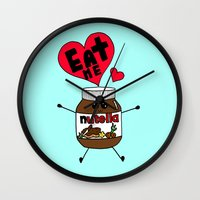 nutella Wall Clocks featuring Nutella by Aurelie