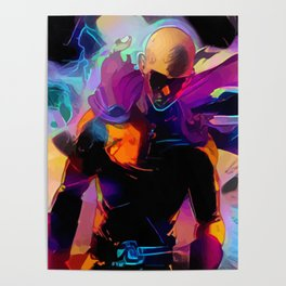 Neon powerful Poster