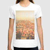 new york city T-shirts featuring New York City Sunset by Vivienne Gucwa