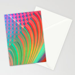 Pattern Stripes and rhombs Stationery Cards