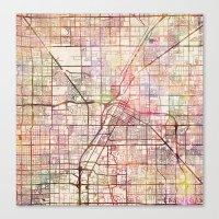 las vegas Canvas Prints featuring Las Vegas by MapMapMaps.Watercolors