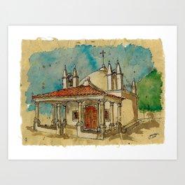 Capela S.Sebatião Art Print
