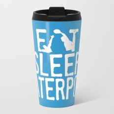 Eat sleep waterpolo Metal Travel Mug