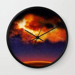 War in the Heavens - Digital Space Art Wall Clock