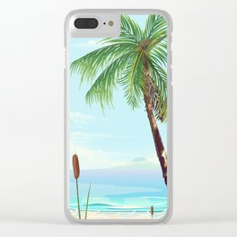 Tropical beach Clear iPhone Case