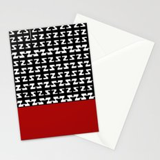 Pattern in Black and White with alphabet T Stationery Cards