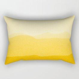 gradient landscape - sunshine edit Rectangular Pillow