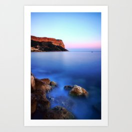 Cap Canaille (Cassis, France) at sunset Art Print