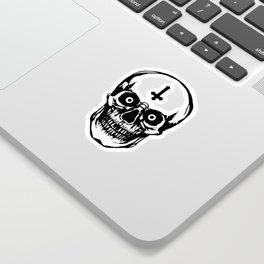 Most Ugly Satanic Skull Sticker