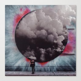 Clouded Judgment-Surreal Collage Canvas Print