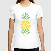 pineapple T-shirts featuring Pineapple by Jacqueline Maldonado