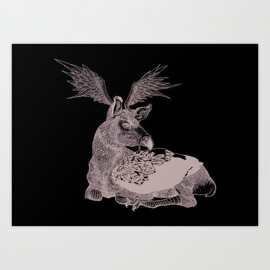Cerf Volant Art Print