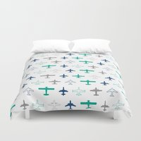 planes Duvet Covers featuring Planes by chantae