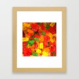 red orange yellow colorful gummy bear Framed Art Print