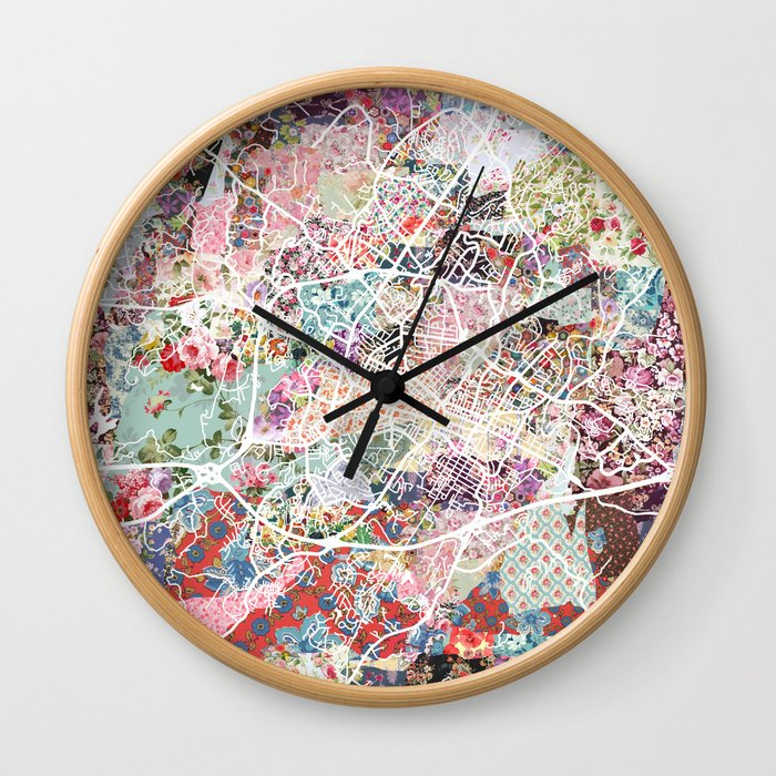 Charlottesville map Virginia Wall Clock