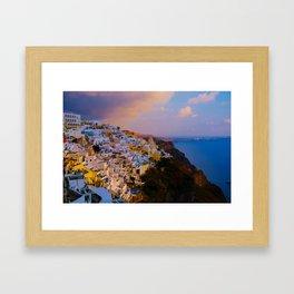 Santorini,Greece Framed Art Print